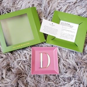 NWT Kate Spade Its Personal Letter D Jewelry Tray